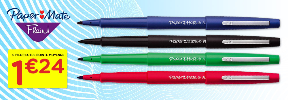 Stylo-feutre-PAPERMATE-Tempo-Flair-pointe-moyenne