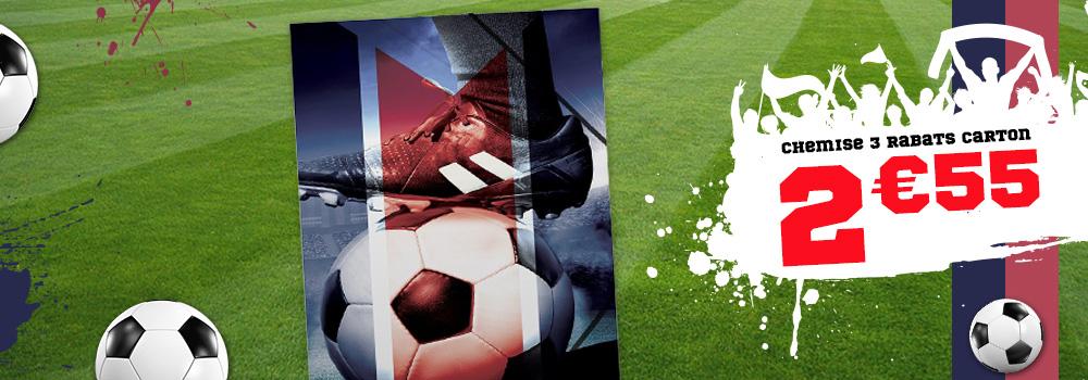 Chemise-3-rabats-carton-24x32-cm-Football-Bleu