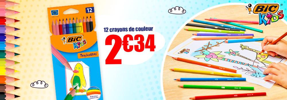 12-crayons-de-couleur-BIC-Tropicolor