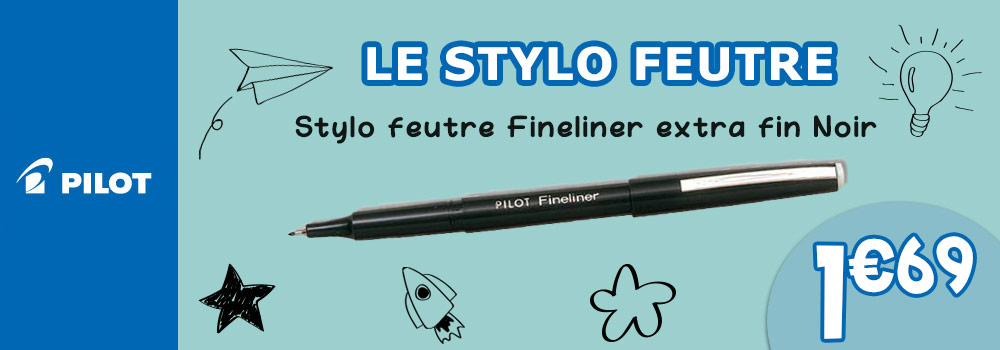 TGV-Stylo-feutre-PILOT-Fineliner-extra-fin-Noir
