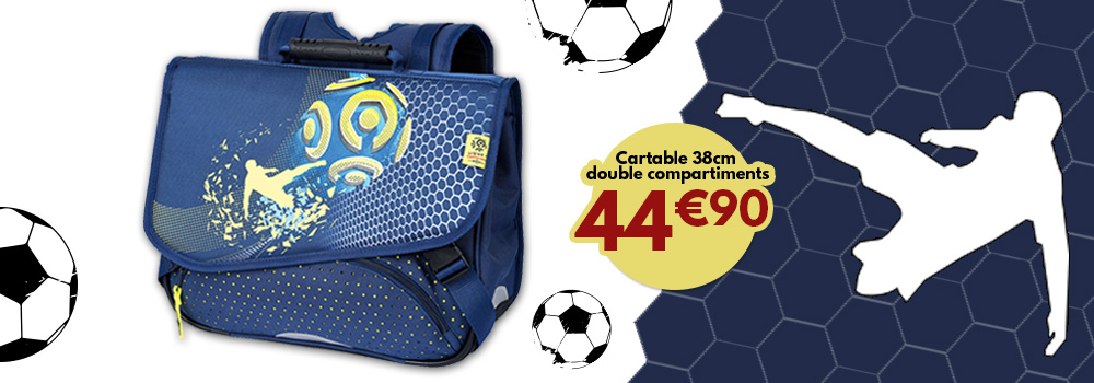cartable-football-38cm-double-compartiments-sans-promo