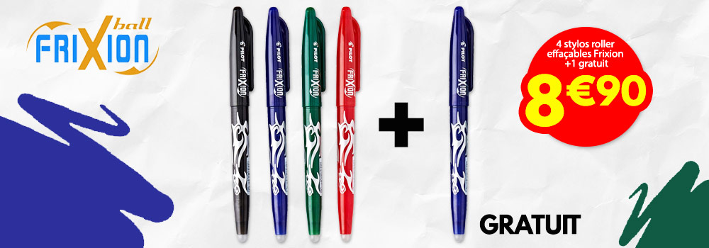 Lot-de-4-stylos-roller-effaçables-Frixion-PILOT-assortis-et-1
