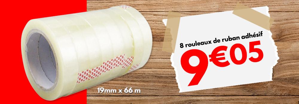 8-rouleaux-de-ruban-adhésif-transparent-19mm-x-66m
