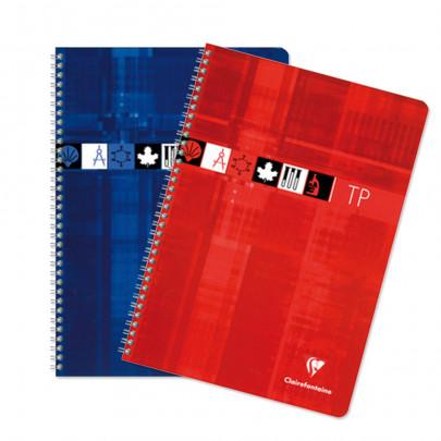 Cahier Travaux Pratiques Spirales 17x22 Clairefontaine 40p 40p Grands Carreaux 90g 125g Chez Scoleo Fournitures Scolaires