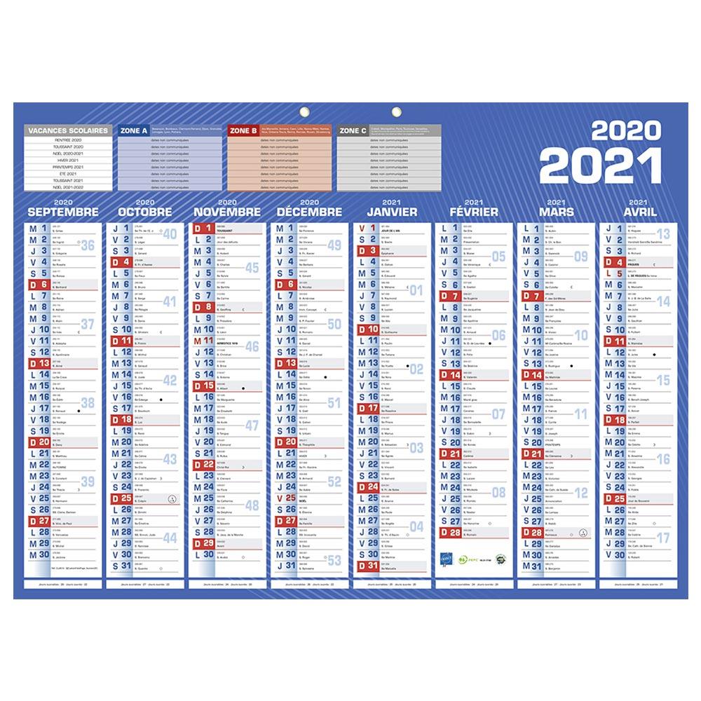 Calendrier bancaire année civile BOUCHUT Classique 16 Mois 40,5 x